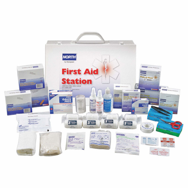 North 100-Person Steel Class B First Aid Cabinet