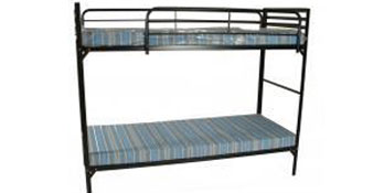 Institutional Bunk Bed W 2 Guardrails And 2 4 Foam Mats Camp Set