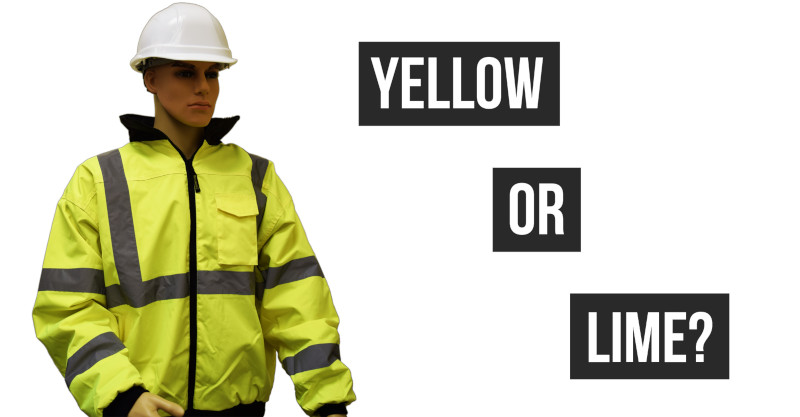 Is Manny's Hi-Vis Jacket Yellow or Lime?